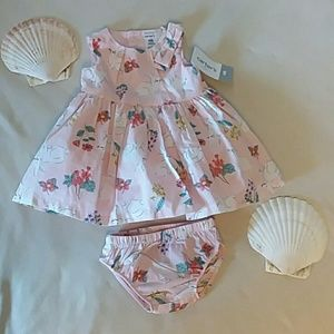 NWT 2 pc. Carter's pink dress with matching bottom